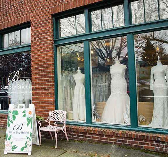 blue sky bridal storefront